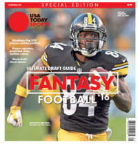 USA TODAY 2016 Fantasy Football Guide Special Edition - Steelers Cover
