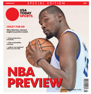 NBA Preview 2016 - Special Edition - Kevin Durant Cover