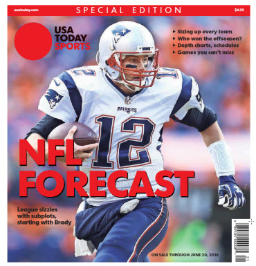 USA TODAY Sports  Special Edition - NFL Forecast  2016 - Tom Brady Cover