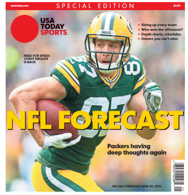 USA TODAY Sports Special Edition - NFL Forecast  2016 - Jordy Nelson Cover