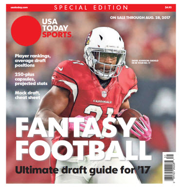 USA TODAY 2017 Fantasy Football Guide Special Edition - Cardinals Cover