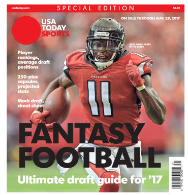 USA TODAY 2017 Fantasy Football Guide Special Edition - Falcons Cover