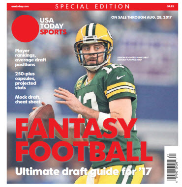 USA TODAY 2017 Fantasy Football Guide Special Edition - Packers Cover