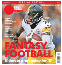 USA TODAY 2017 Fantasy Football Guide Special Edition - Steelers Cover
