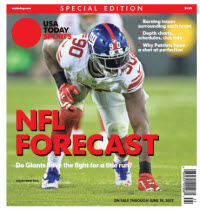 USA TODAY Sports  Special Edition - NFL Forecast  2017 - Giants Cover
