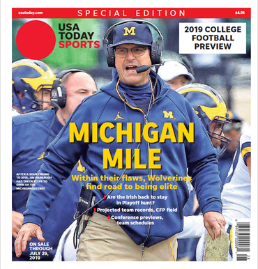 USA TODAY Sports Special Edition - 2019 College Football Preview - Michigan Cover MAIN