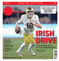 USA TODAY Sports Special Edition - 2019 College Football Preview - Notre Dame Cover THUMBNAIL