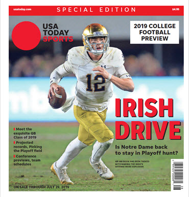 USA TODAY Sports Special Edition - 2019 College Football Preview - Notre Dame Cover MAIN