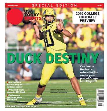 USA TODAY Sports Special Edition - 2019 College Football Preview - Oregon Cover MAIN