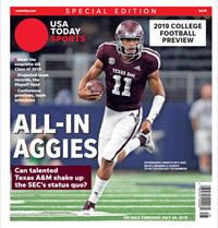 USA TODAY Sports Special Edition - 2019 College Football Preview - Texas A&M Cover THUMBNAIL