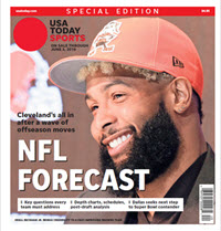 USA TODAY Sports  Special Edition - NFL Forecast  2019 - Browns Cover THUMBNAIL