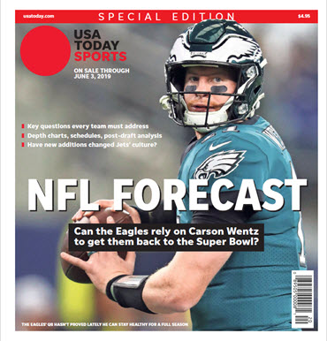 USA TODAY Sports  Special Edition - NFL Forecast  2019 - Eagles Cover MAIN
