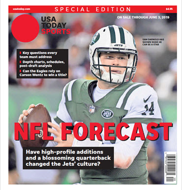 USA TODAY Sports  Special Edition - NFL Forecast  2019 - Jets Cover MAIN