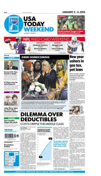 01/02/2015 Issue of USA TODAY