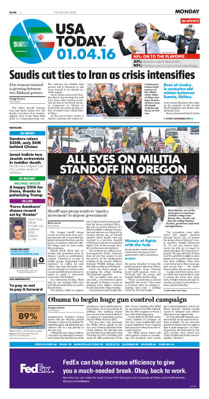 1/04/2016 Issue of USA TODAY