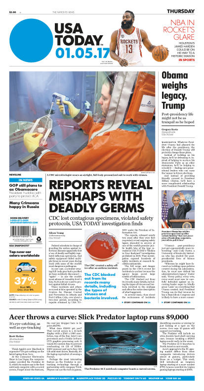 01/05/2017 Issue of USA TODAY