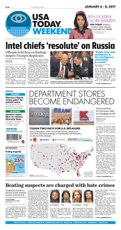 01/06/2017 Issue of USA TODAY