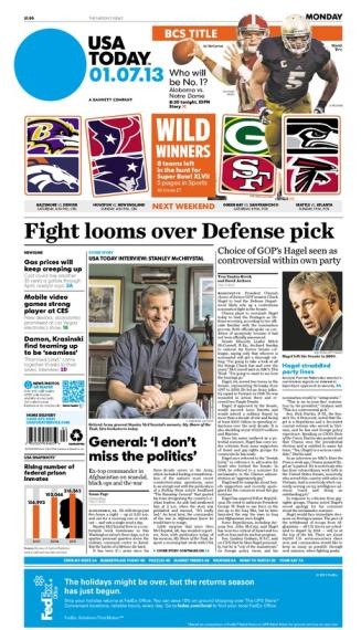 01/07/2013 Issue of USA TODAY