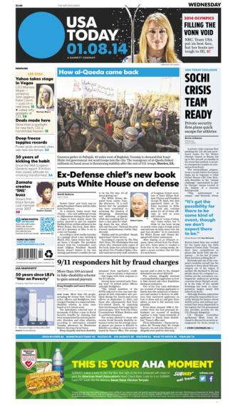 01/08/2014 Issue of USA TODAY