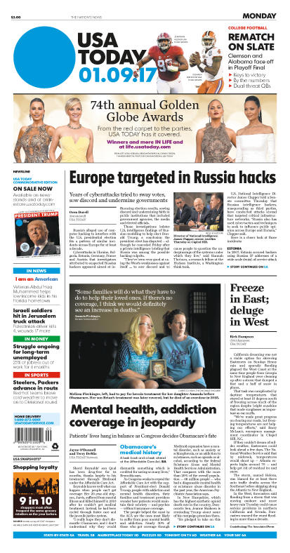 01/09/2017 Issue of USA TODAY