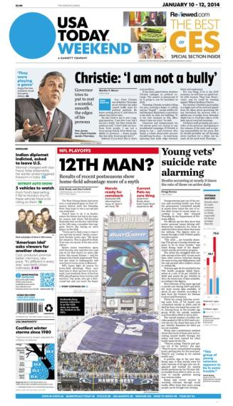 01/10/2014 Issue of USA TODAY