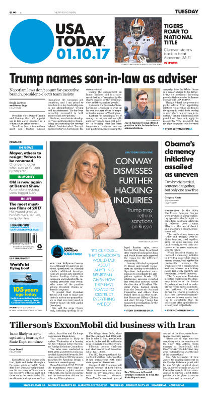 01/10/2017 Issue of USA TODAY