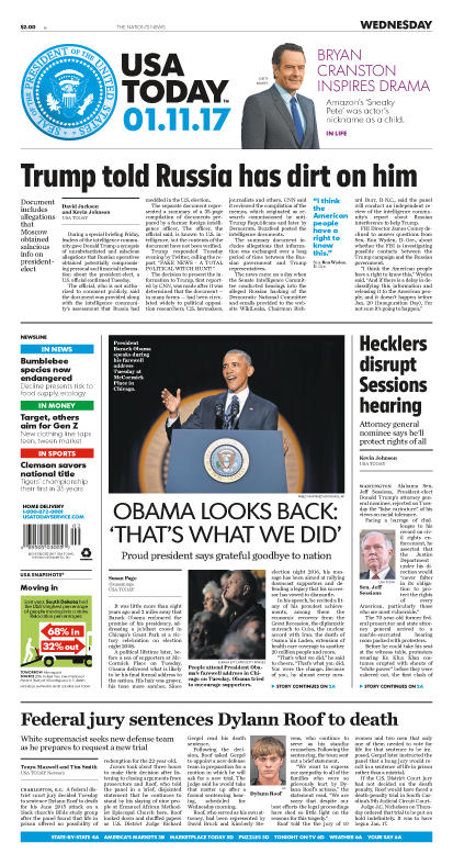 01/11/2017 Issue of USA TODAY