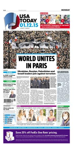01/12/2015 Issue of USA TODAY