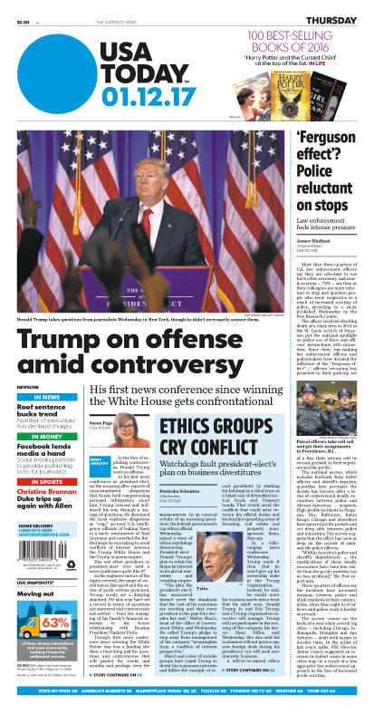 01/12/2017 Issue of USA TODAY