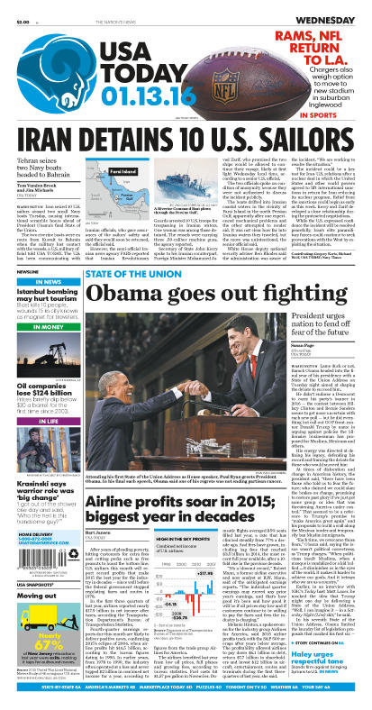 01/13/2016 Issue of USA TODAY