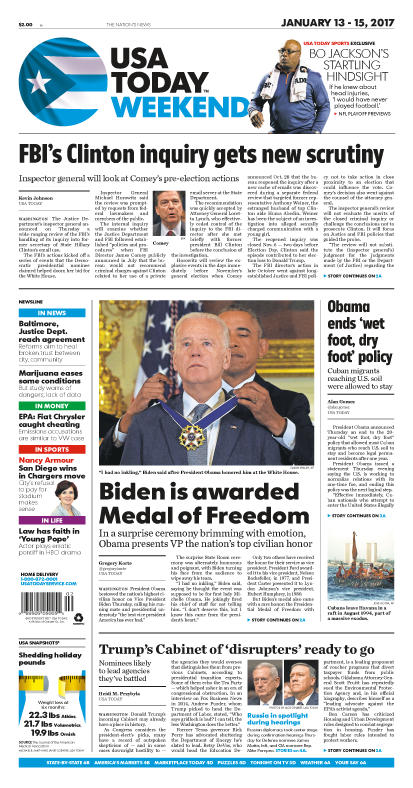 01/13/2017 Issue of USA TODAY MAIN