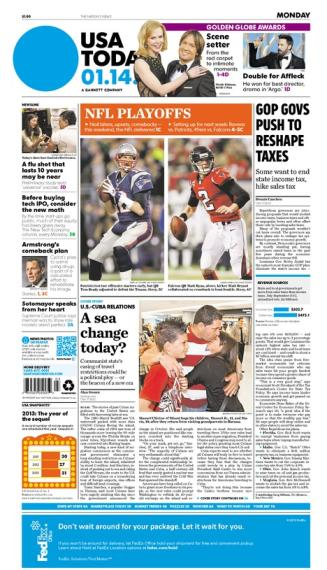 01/14/2013 Issue of USA TODAY