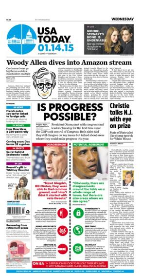 01/14/2015 Issue of USA TODAY