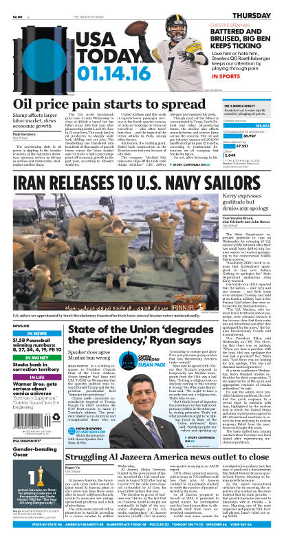 01/14/2016 Issue of USA TODAY