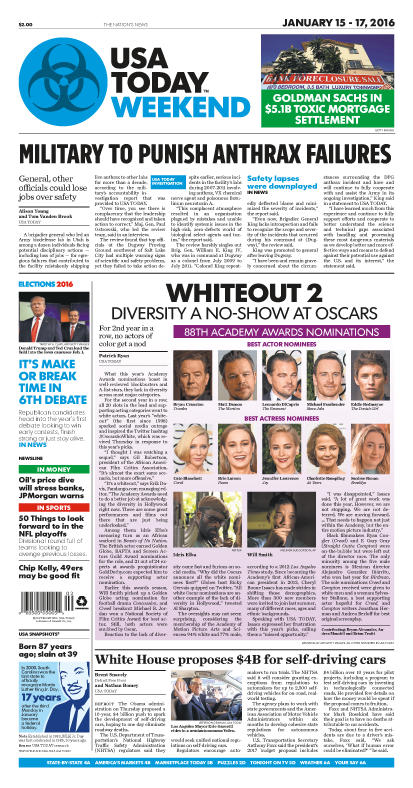 01/15/2016 Issue of USA TODAY