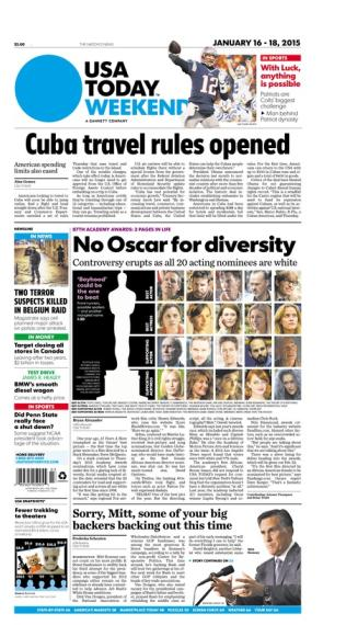 01/16/2015 Issue of USA TODAY