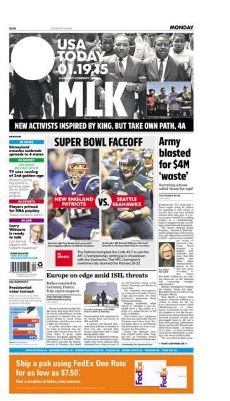 01/19/2015 Issue of USA TODAY