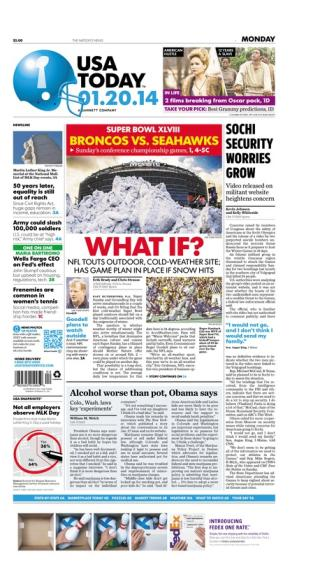01/20/2014 Issue of USA TODAY