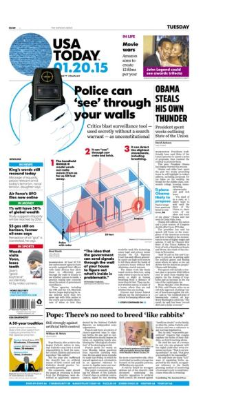 01/20/2015 Issue of USA TODAY