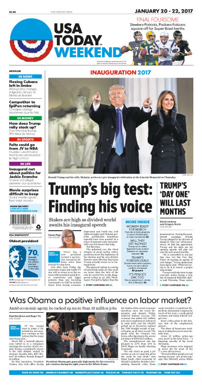 01/20/2017 Issue of USA TODAY