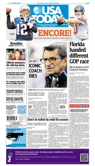 01/23/2012 Issue of USA TODAY