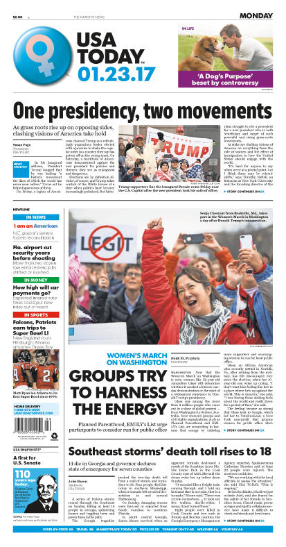 01/23/2017 Issue of USA TODAY MAIN