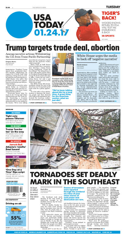 01/24/2017 Issue of USA TODAY MAIN