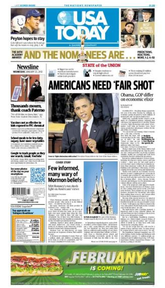 01/25/2012 Issue of USA TODAY