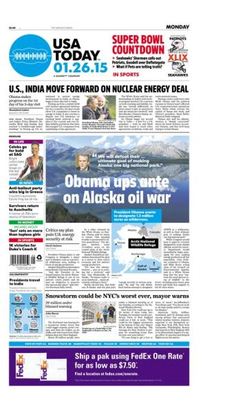 01/26/2015 Issue of USA TODAY