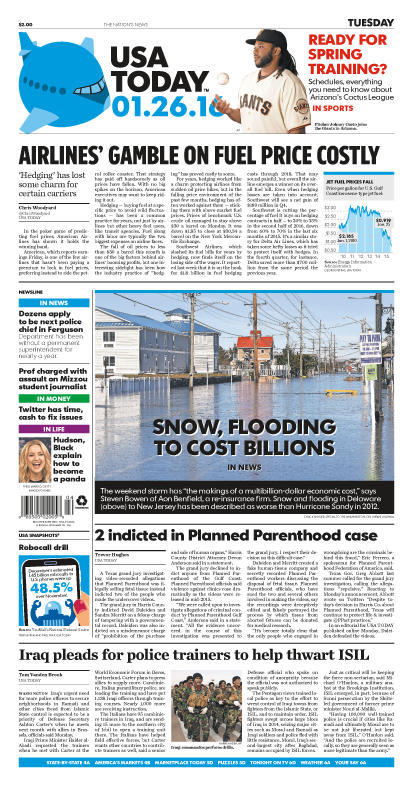 01/26/2016 Issue of USA TODAY