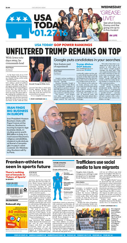 01/27/2016 Issue of USA TODAY