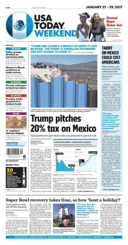 01/27/2017 Issue of USA TODAY