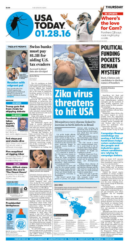 01/28/2016 Issue of USA TODAY