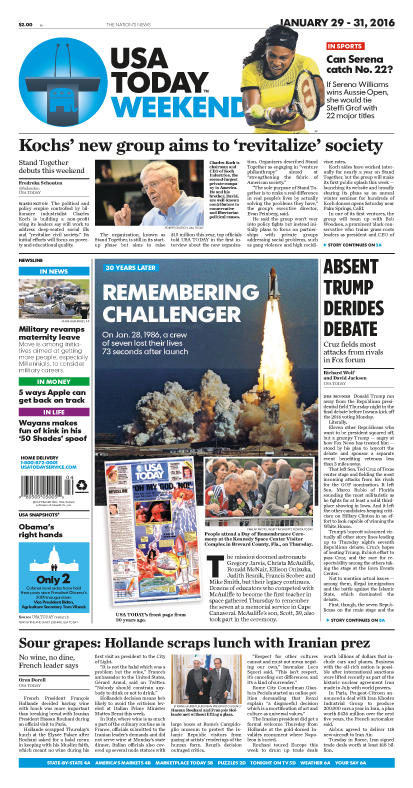 01/29/2016 Issue of USA TODAY